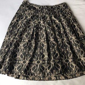 Black and Cream Pattern Skirt